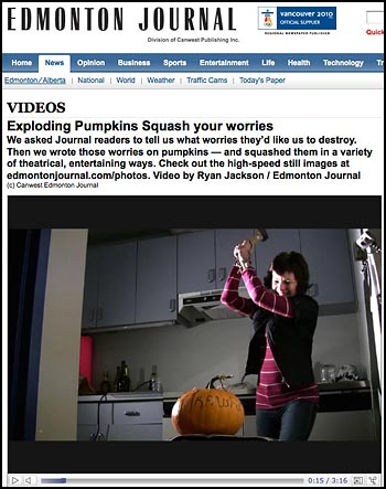 exploding pumpkin video