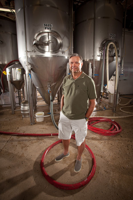 Neil Herbst, owner of Alley Kat Brewing Company poses for a photo in his brewery in Edmonton on August 27, 2012.