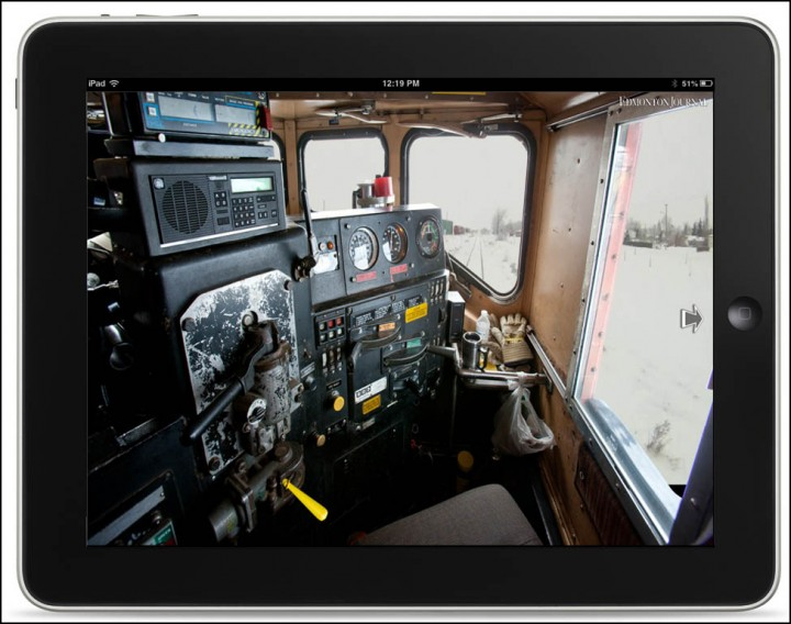 Ever wanted to drive a train?  Journal photographer Ryan Jackson has created an interactive tour of the Battle River Railway story. Take a seat at the controls of Engine 5353 and learn how to drive a train! The tour works on your desktop or mobile device. Go to http://www.edmontonjournal.com/BRR