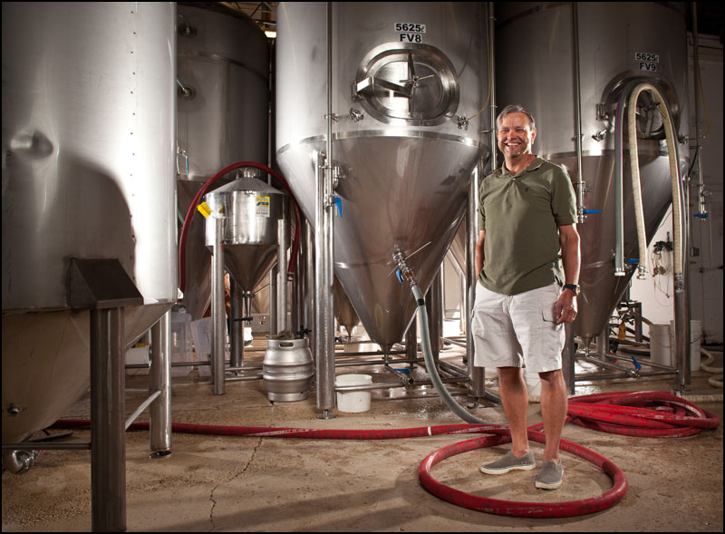 Neil Herbst, owner of Alley Kat Brewing Company poses for a photo in his brewery in Edmonton on August 27, 2012. (Ryan Jackson / Edmonton Journal)