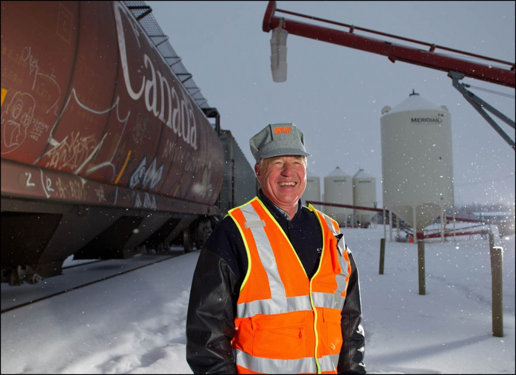 Ken Eshpeter, Chairman and CEO of the Battle River Railway, poses for a photo in Forestburg, Alta. on December 1, 2012. The BRR is a community-owned railway line between Camrose and Alliance, Alta. The new generation co-op purchased the 80-km short-line from CN in 2008 after they announced they were going to sell off the rails for scrap. By keeping the line active, local area farmers are able to save money and time transporting their grain. The co-op also turns a profit which it returns to it's shareholders and plans to offer tourism and oil transport in the future.  (Ryan Jackson / Edmonton Journal)