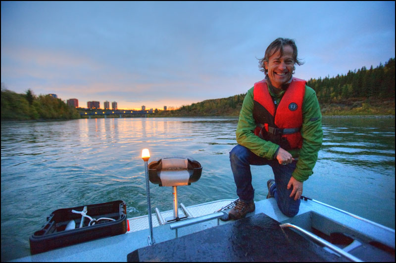 Glen Isaac, Executive Director of the North Saskatchewan River Keeper poses for a photo along the North Saskatchewan River in Edmonton on October 1, 2012. Photo by Ryan Jackson / Edmonton Journal