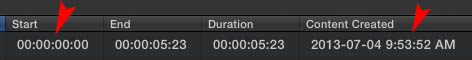 If you import a video file created by raw2dng the video lacks timecode and therefor will be arranged by the wrong time.