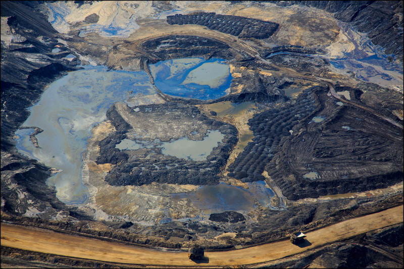 FORT MCKAY, ALTA.:      JUNE, 18, 2013: — An aerial view of Canadian Natural Resources Limited (CNRL) oilsands mining operation near Fort McKay, Alta. on June 18, 2013. (Ryan Jackson / Edmonton Journal)