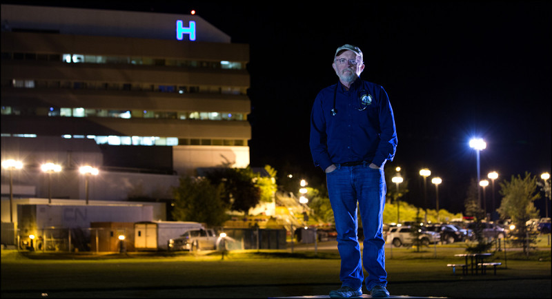 FORT MCMURRAY, ALTA.: SEPTEMBER, 9, 2013:   Dr. John O'Connor poses for a photo outside the hospital in Fort McMurray, Alta. on September 9, 2013. O'Connor has spent years as a physician for the northern communities of Fort McMurray, Fort McKay and Fort Chipewyan. He has been fighting to get proper cancer studies done on the residents of Fort Chipewyan who have higher than expected rates of rare cancers. The debate has been whether the cancers are caused by pollution from the oilsands industry or other unrelated factors. (Ryan Jackson / Edmonton Journal)