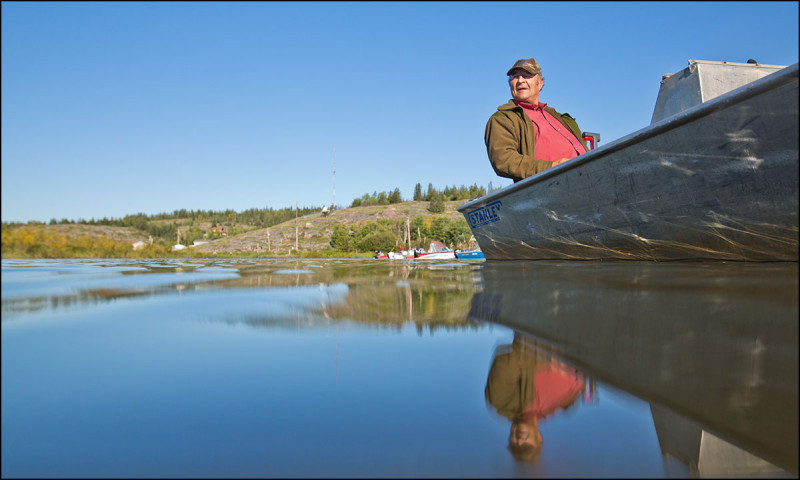 FORT CHIPEWYAN, ALTA.: SEPTEMBER, 12, 2013:  Metis commercial fisherman and trapper Raymond Ladouceur poses for a photo on Lake Athabasca in Fort Chipewyan, Alta. on September 12, 2013. Ladouceur says he has seen big changes in Lake Athabasca over the years caused by oilsands industry. He has also lost several family members and friends to cancer which he believes is caused by industrial pollution.  (Ryan Jackson / Edmonton Journal)