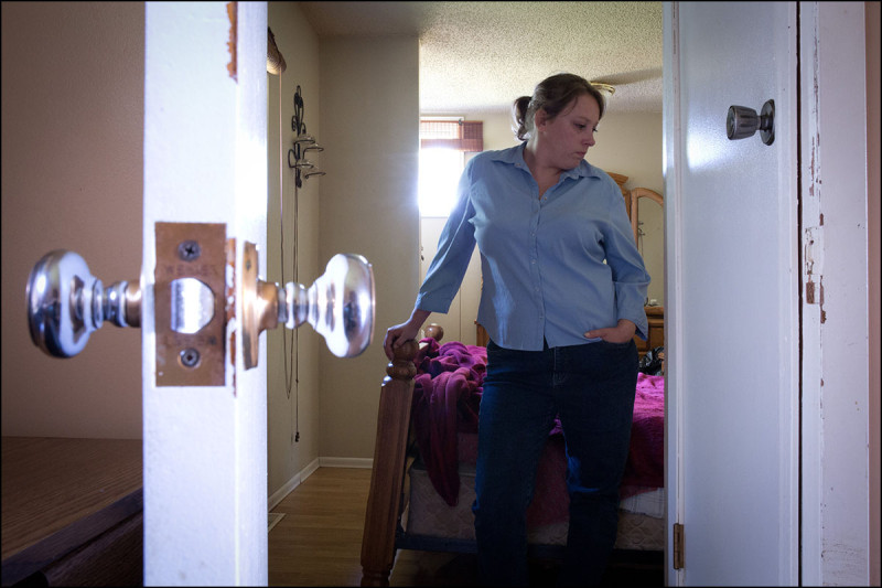 WARBURG, ALTA.: JULY,26, 2013: — Jamie Sullivan poses for a photo in her bedroom in her home near Warburg, Alta.  on July 26, 2013.  (Ryan Jackson / Edmonton Journal)