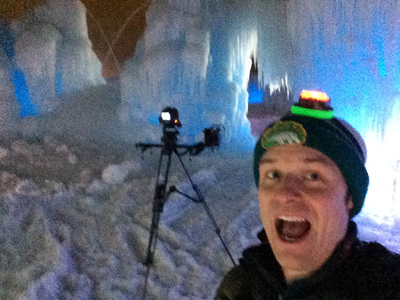Here's me in the ice castle on Christmas eve.