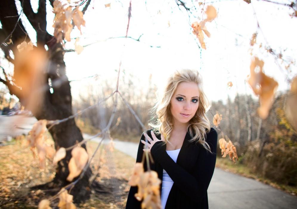 Edmonton model Traci Tosczak poses for a photo in November 2009.