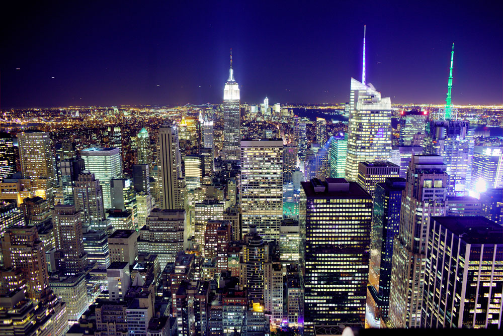 Manhattan as seen from the top of 30 Rock. 2011.