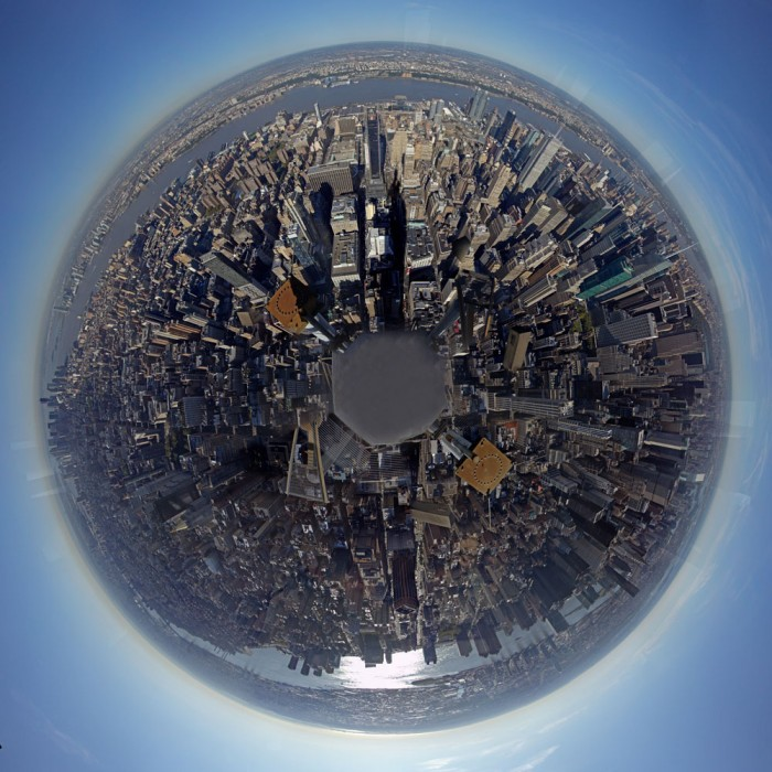 A 360-degree view of Manhattan as seen from the Empire State Building. 2011.