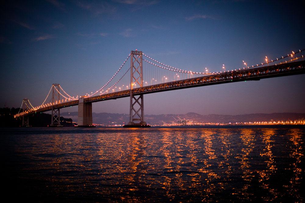The Bay Bridge in San Francisco on September 23, 2012.